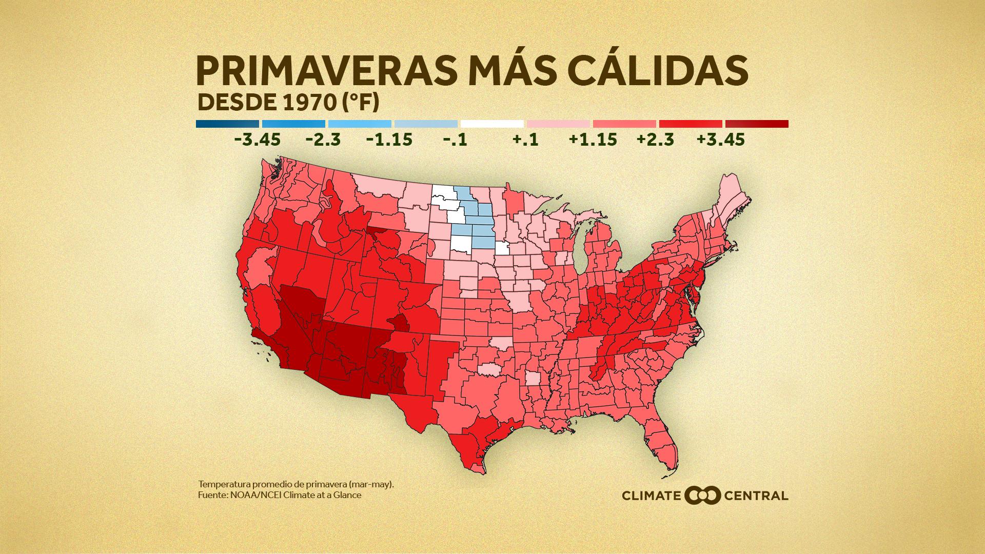 Nacional: Mapa de calor de primavera
